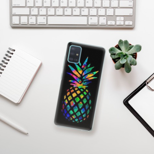 Plastové pouzdro iSaprio - Rainbow Pineapple - Samsung Galaxy A51
