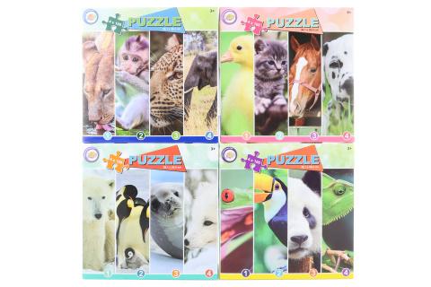 Puzzle 4v1 se zvířátky