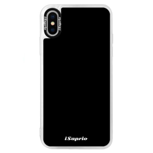 Neonové pouzdro Blue iSaprio - 4Pure - černý - iPhone XS