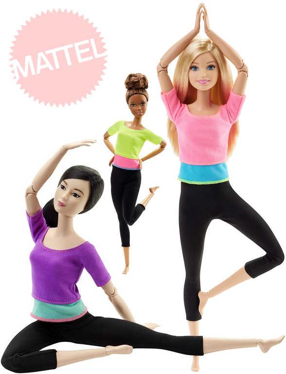 MATTEL BRB Barbie panenka fitness realistický pohyb 22 kloubů ohebná 4 druhy
