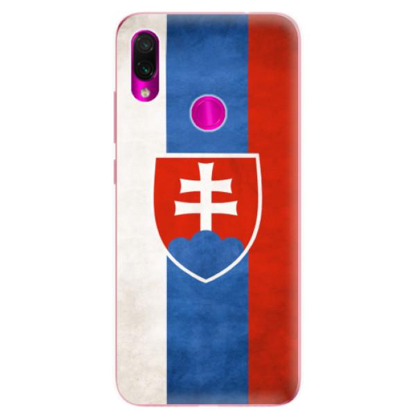 Odolné silikonové pouzdro iSaprio - Slovakia Flag - Xiaomi Redmi Note 7