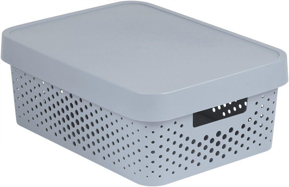 Úložný box INFINITY DOTS 11L - šedý