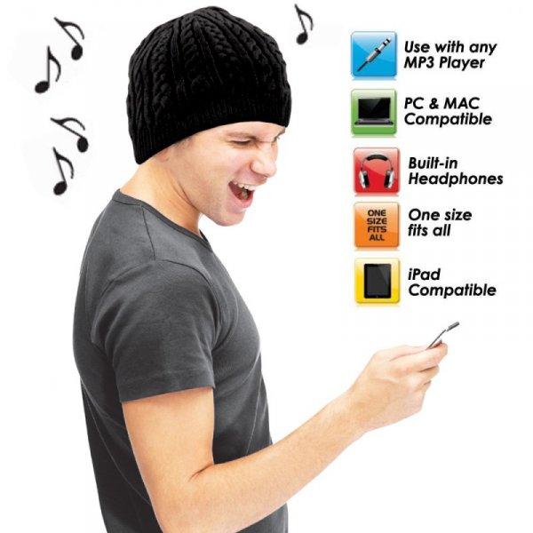 Hudební pletená čepice