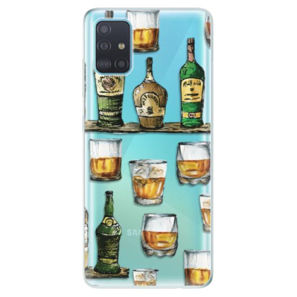 Odolné silikonové pouzdro iSaprio - Whisky pattern - Samsung Galaxy A51