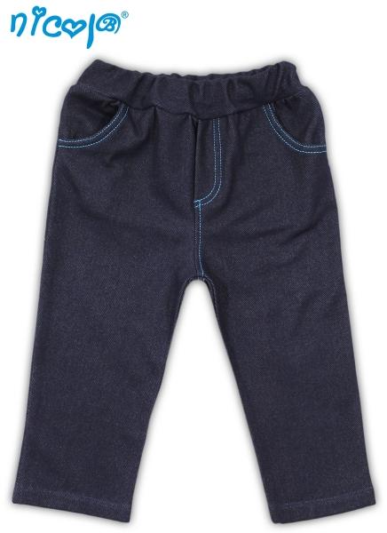Tepláčky, kalhoty TUČŇÁK - jeansová - 56 (1-2m)