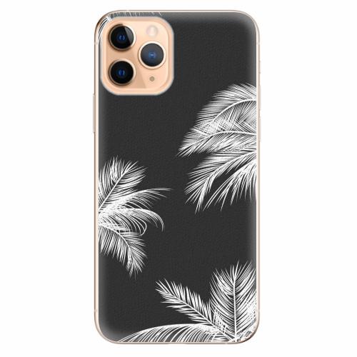 Silikonové pouzdro iSaprio - White Palm - iPhone 11 Pro