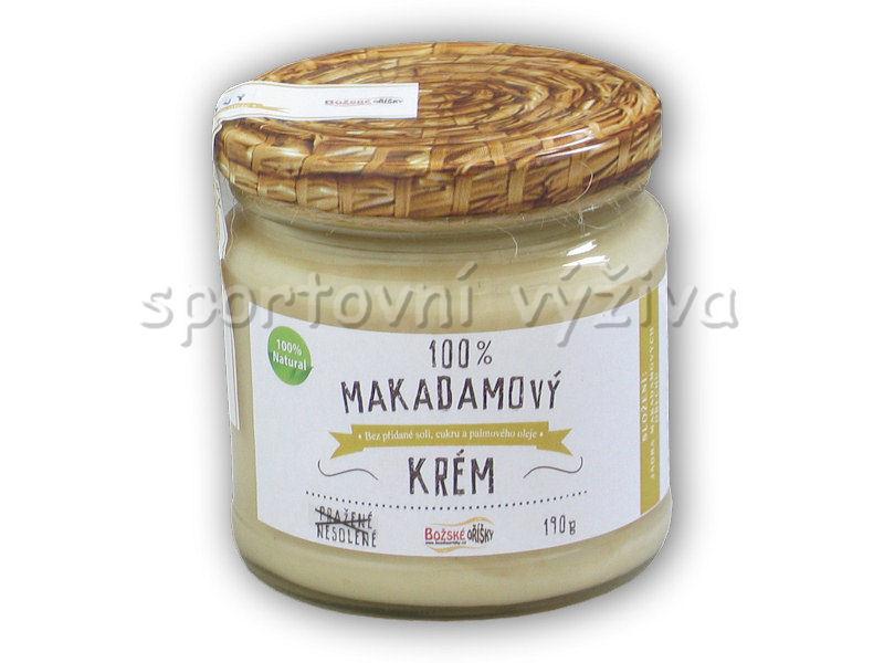100% makadamový krém 190g