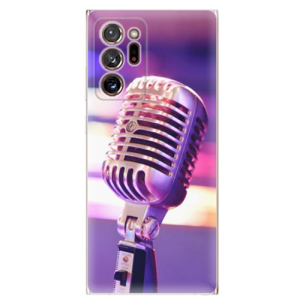 Odolné silikonové pouzdro iSaprio - Vintage Microphone - Samsung Galaxy Note 20 Ultra