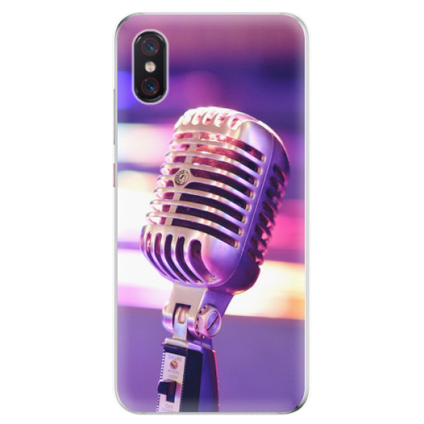 Odolné silikonové pouzdro iSaprio - Vintage Microphone - Xiaomi Mi 8 Pro