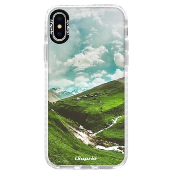 Silikonové pouzdro Bumper iSaprio - Green Valley - iPhone X