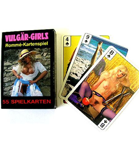 Retro žolíkové karty Vulgär-Girls 55 karet