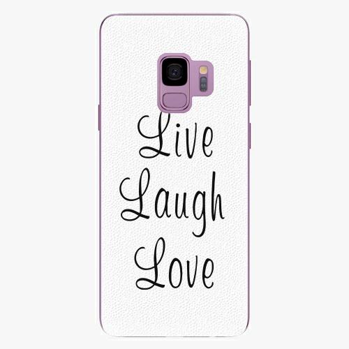 Plastový kryt iSaprio - Live Laugh Love - Samsung Galaxy S9