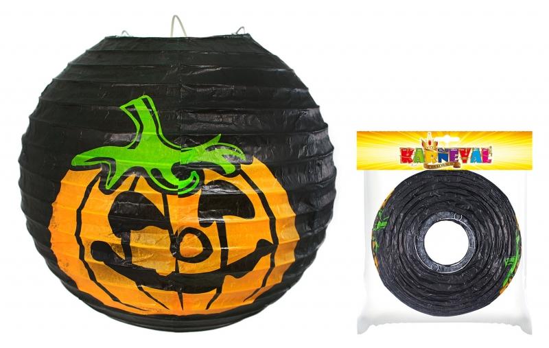 Lampion s dýní Halloween vyztužený, 25cm