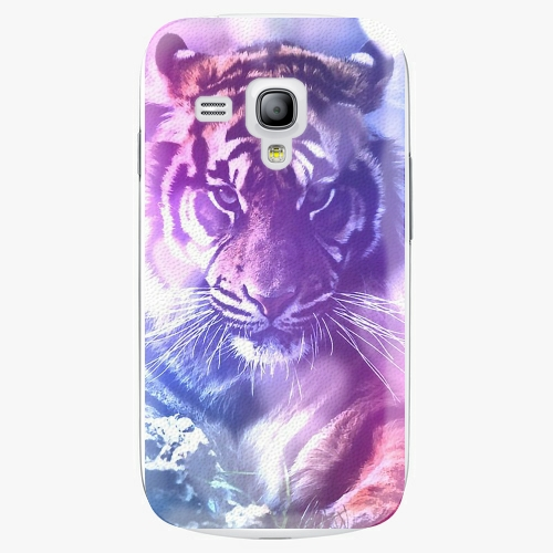 Plastový kryt iSaprio - Purple Tiger - Samsung Galaxy S3 Mini