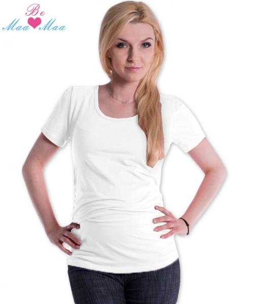 Triko JOLY bavlna nejen pro těhotné - bílé