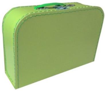 KAZETO Kufr dětský zelený 30x21x10cm šitý lepenkový