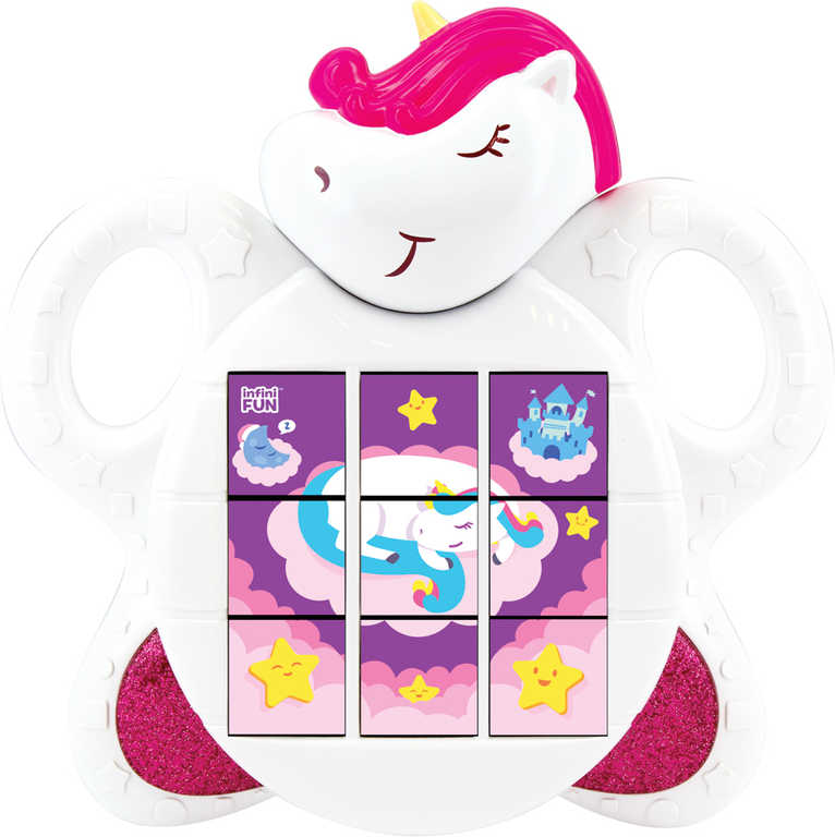 Baby puzzle jednorožec Světlo Zvuk na baterie plast