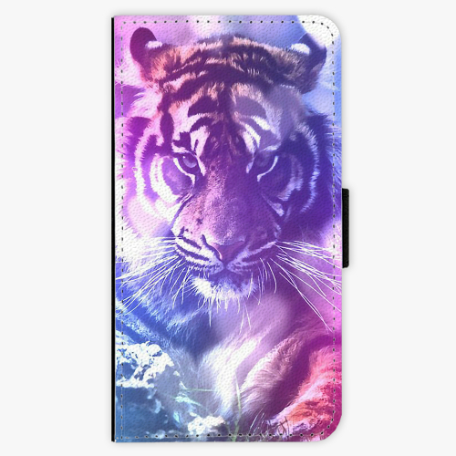 Flipové pouzdro iSaprio - Purple Tiger - iPhone X