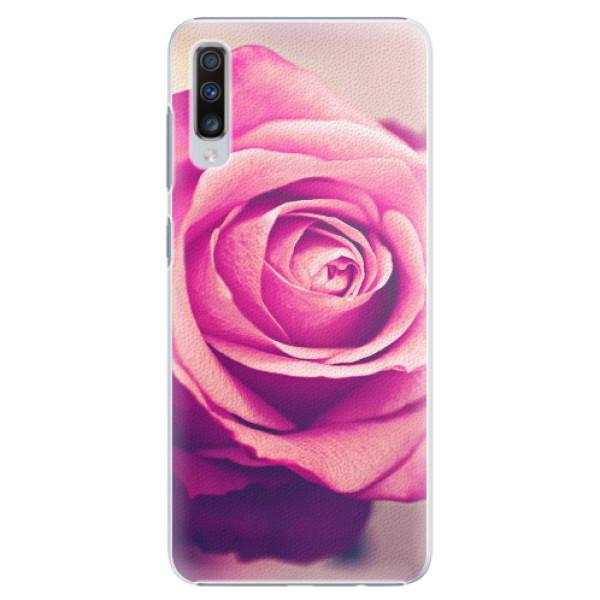 Plastové pouzdro iSaprio - Pink Rose - Samsung Galaxy A70