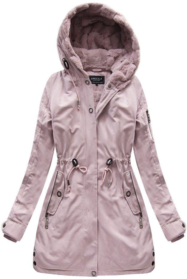 Růžová dámská zimní bunda (XW807X)