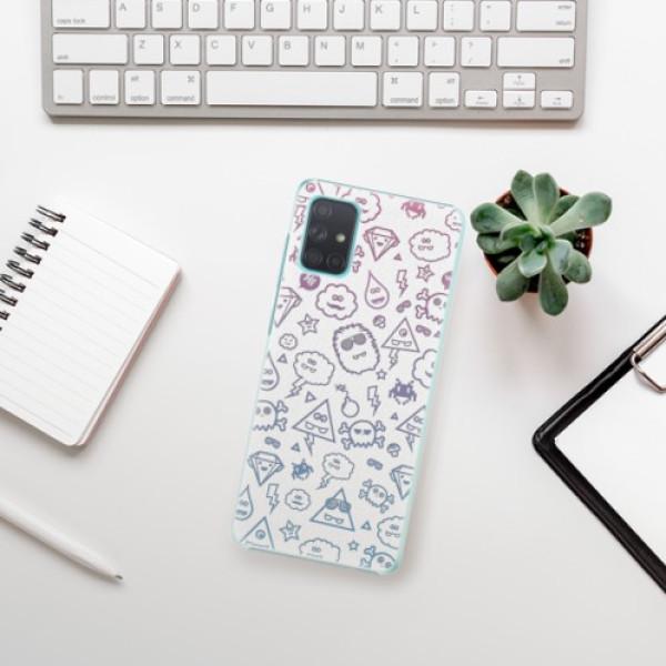 Plastové pouzdro iSaprio - Funny Clouds - Samsung Galaxy A71