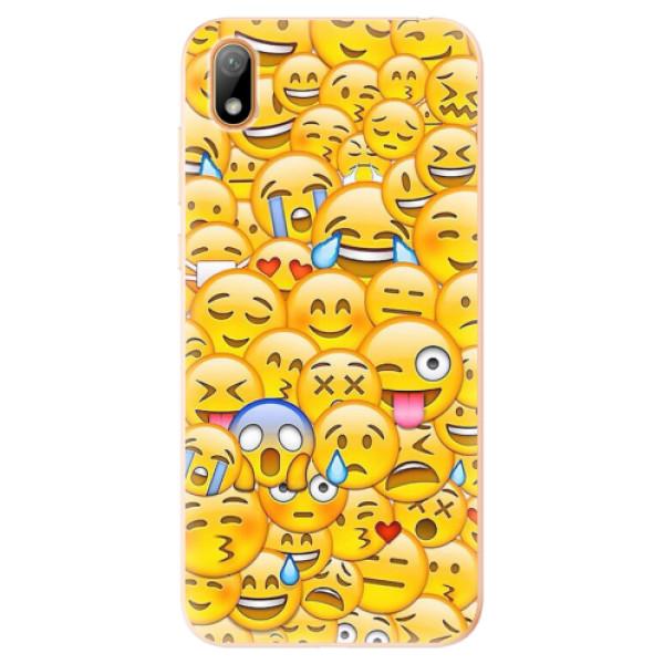 Odolné silikonové pouzdro iSaprio - Emoji - Huawei Y5 2019