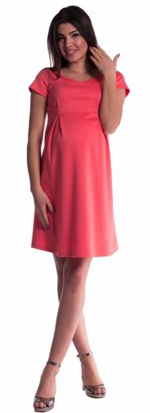 Be MaaMaa Těhotenské šaty - korál - XS (32-34)