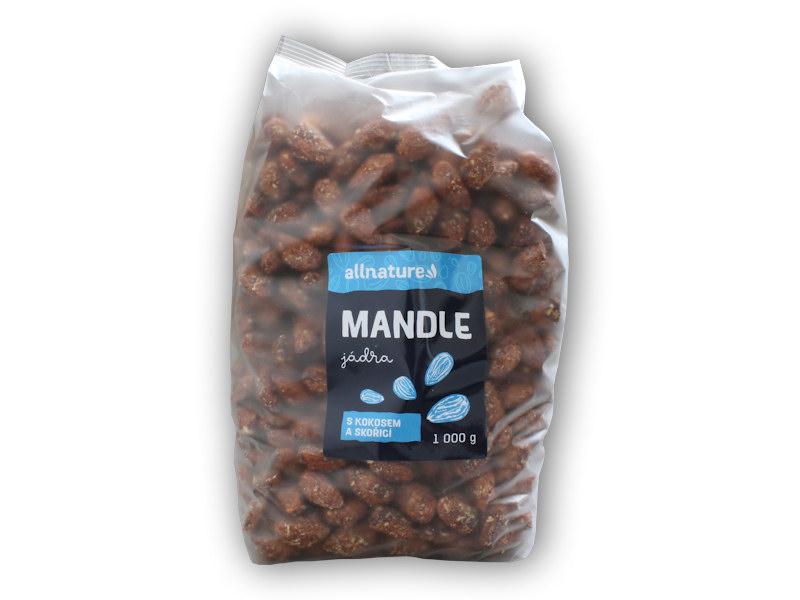 Mandle s kokosem a skořicí 1000g