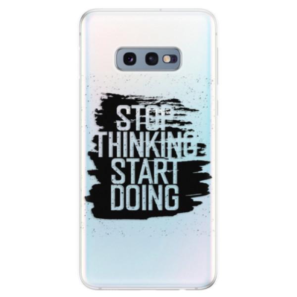 Odolné silikonové pouzdro iSaprio - Start Doing - black - Samsung Galaxy S10e