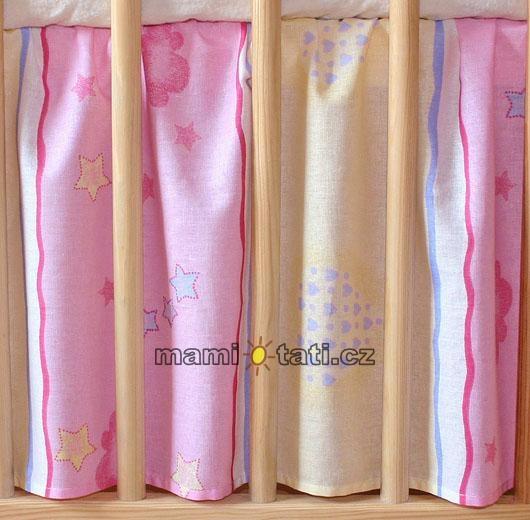 Krásný volánek pod matraci - Medvídek růžový - 120x60