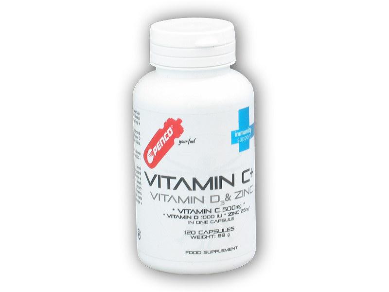 Vitamín C plus D3+Zinc 120 kapslí
