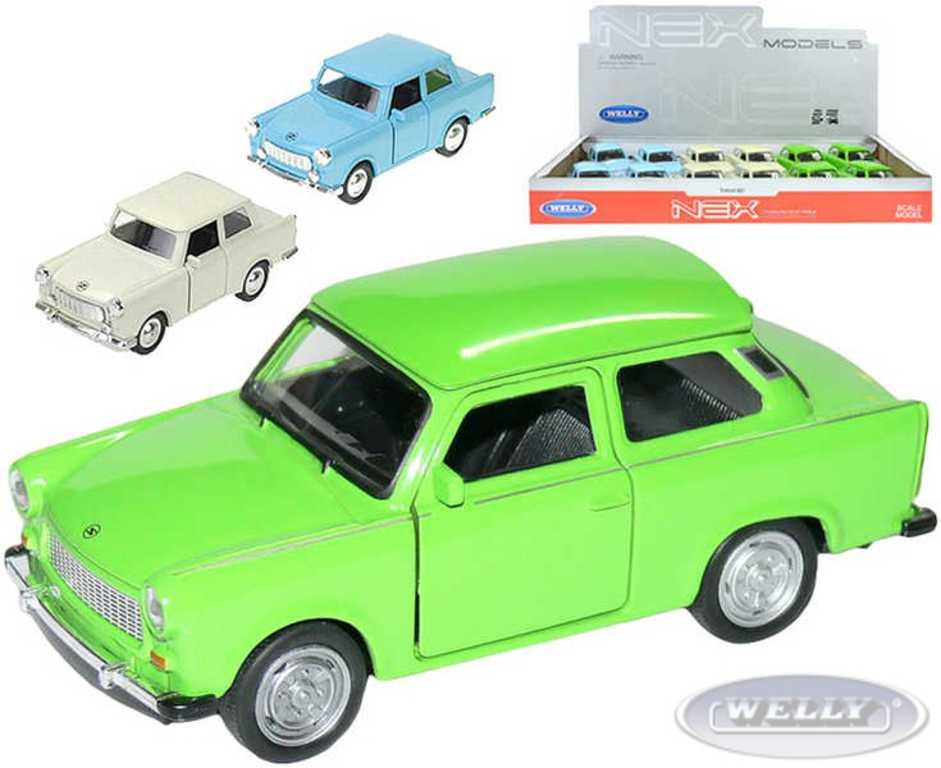 WELLY Auto model 1:36 TRABANT 601 kov PB 11 cm - 3 barvy