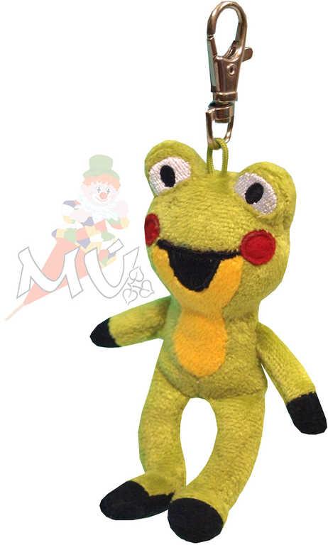 MORAVSKÁ ÚSTŘEDNA Žabka s karabinou 11 cm *PLYŠOVÉ HRAČKY*