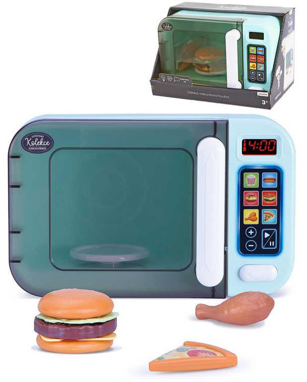 Mikrovlnka dotykový panel luxusní kolekce na baterie set s potravinami Světlo Zvuk