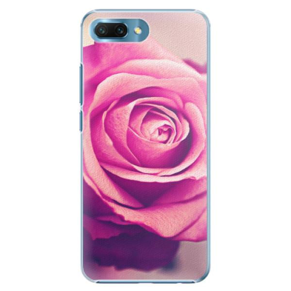 Plastové pouzdro iSaprio - Pink Rose - Huawei Honor 10
