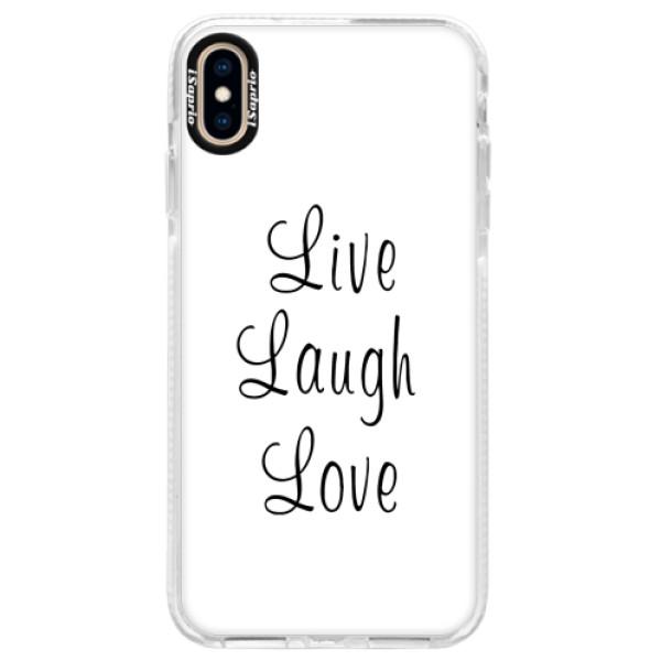 Silikonové pouzdro Bumper iSaprio - Live Laugh Love - iPhone XS Max