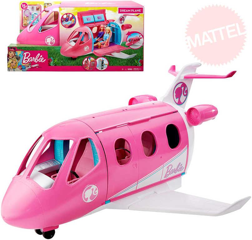 MATTEL BRB Barbie letadlo snů herní set s doplňky