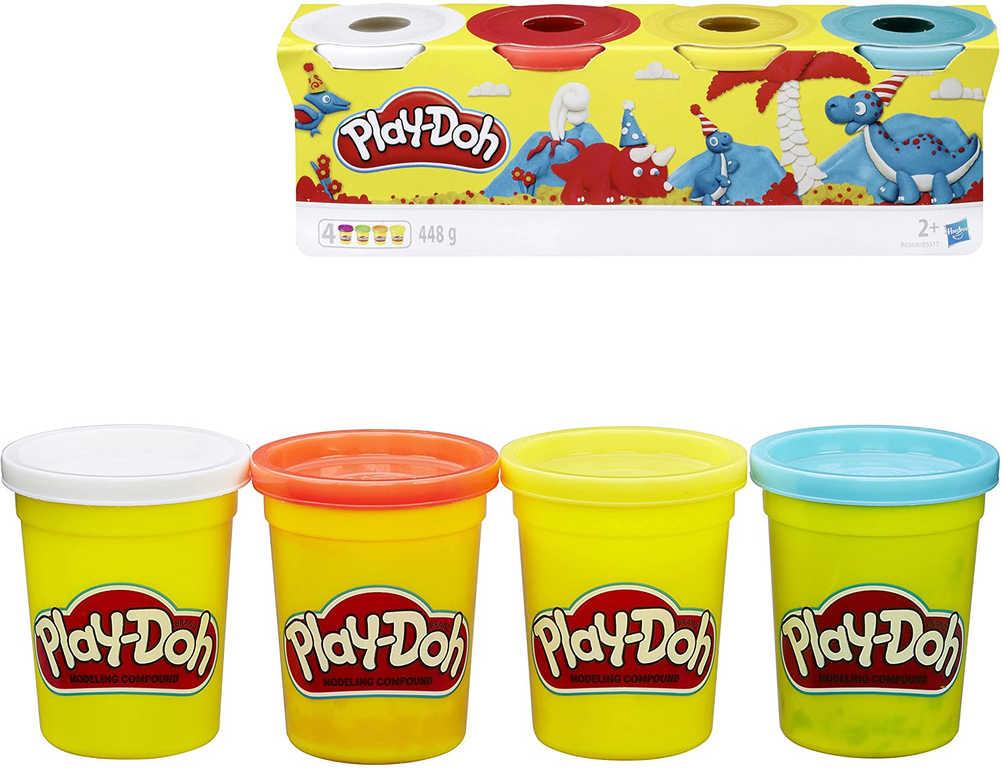 HASBRO PLAY-DOH Modelína sada 4 kelímky 448g mix barev 3 druhy