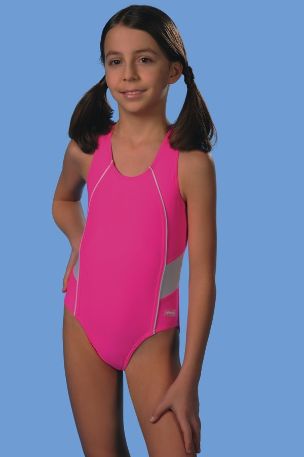 Jednodílné plavky dívčí Britta - Gwinner - Růžova/140