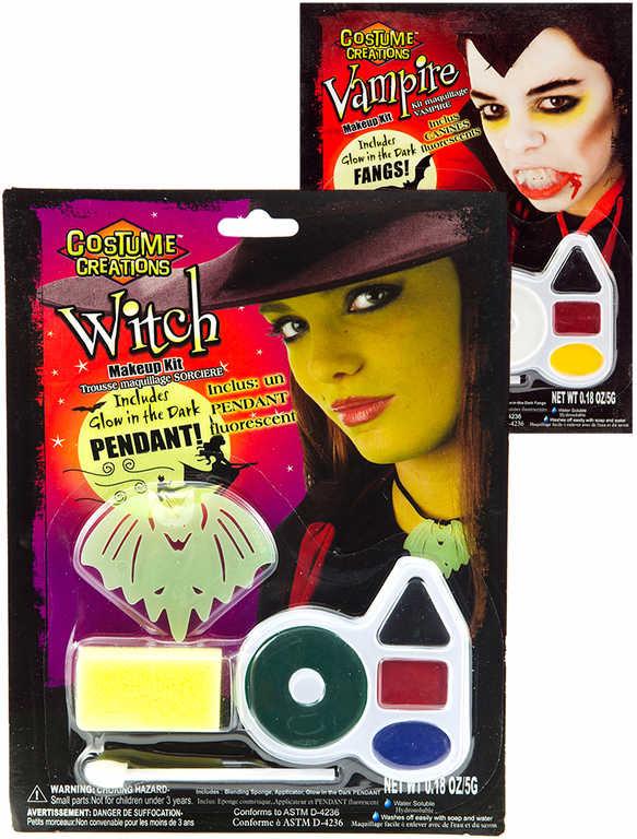 KARNEVAL Barvy obličejové set s aplikátorem a doplňky 6 druhů v krabičce