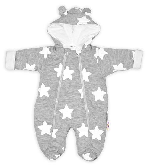 baby-nellys-kombinezka-s-dvojitym-zapinanim-s-kapuci-a-ousky-stars-seda-vel-74-74-6-9m