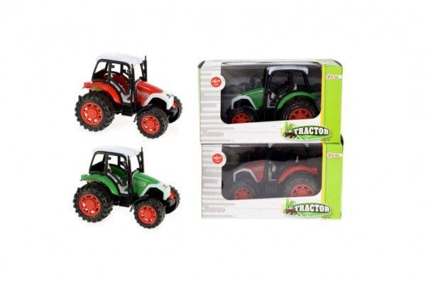 Traktor na setrvačník plast 14cm v krabičce 19x11x11cm