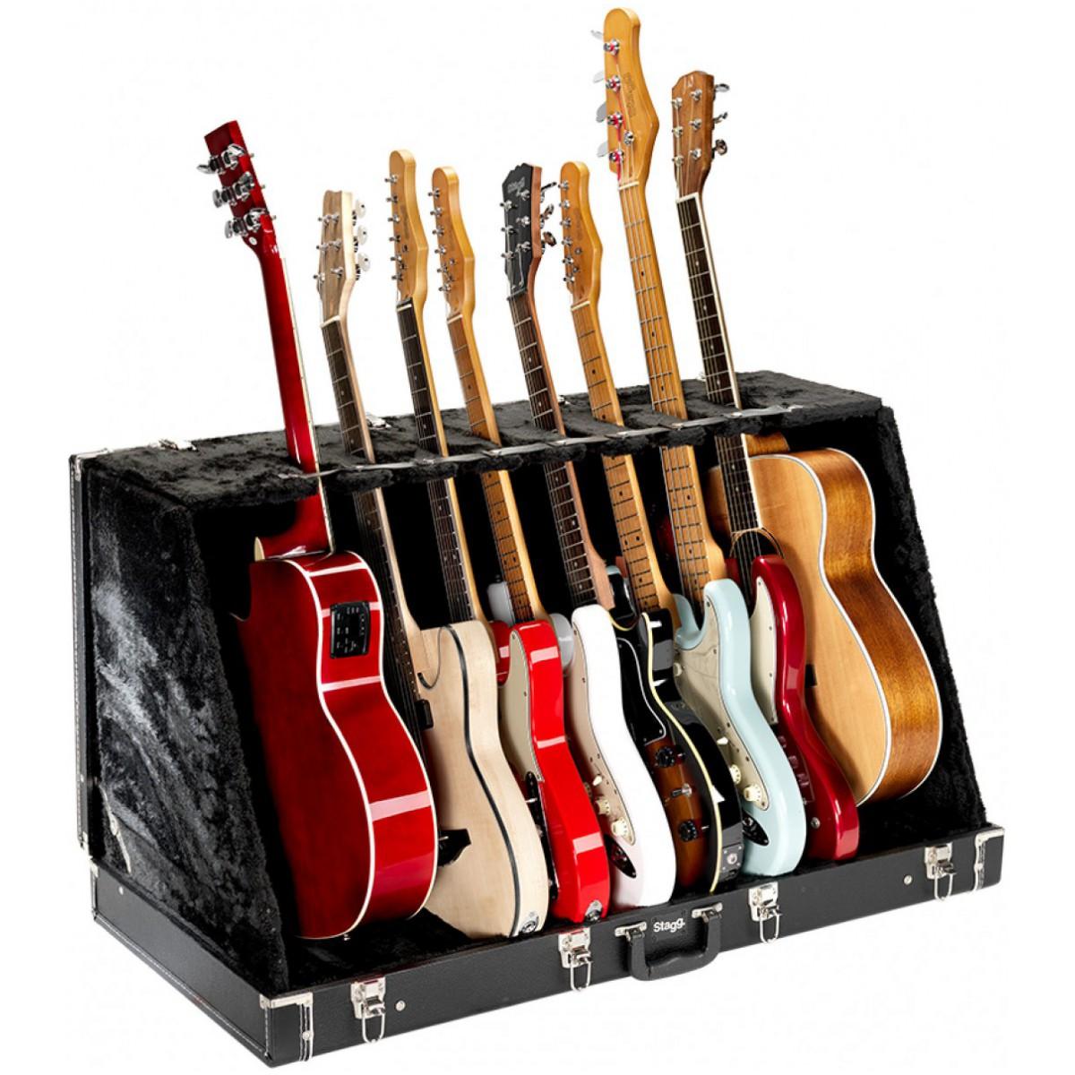 Stagg GDC-8, kufrový stojan pro 8 elektrických kytar
