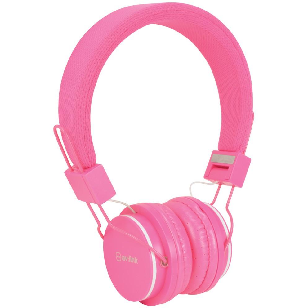 AV:link CH850-PNK, dětské sluchátka s mikrofonem, růžové