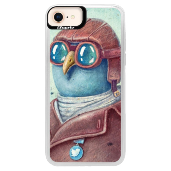 Neonové pouzdro Blue iSaprio - Pilot twitter - iPhone 8