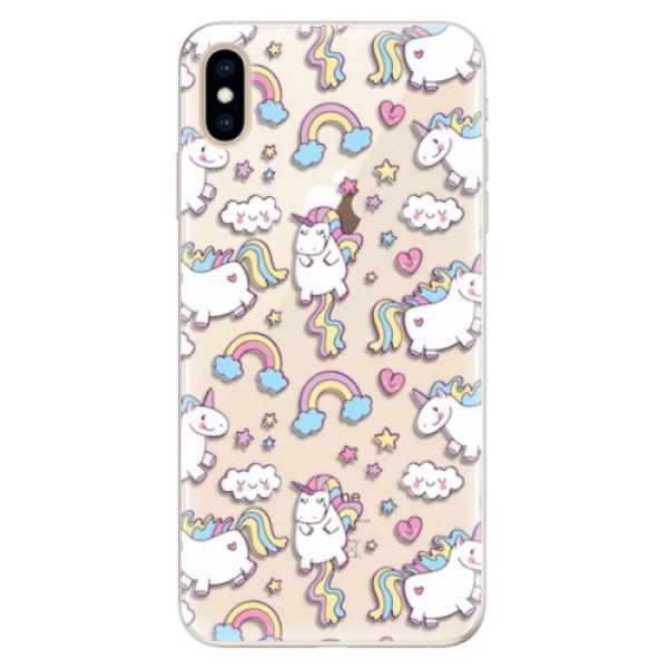 Silikonové pouzdro iSaprio - Unicorn pattern 02 - iPhone XS Max