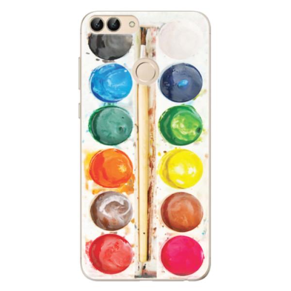 Odolné silikonové pouzdro iSaprio - Watercolors - Huawei P Smart
