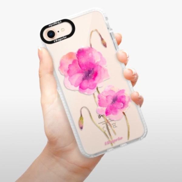 Silikonové pouzdro Bumper iSaprio - Poppies 02 - iPhone 8