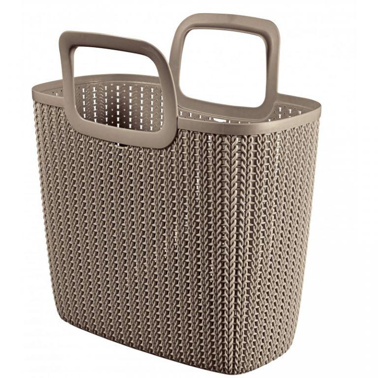 Nákupní taška KNIT - hnědá CURVER