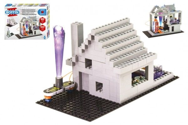 Stavebnice Boffin II. + kostky elektronická 20 projektů na baterie 200ks v krabici 39x30x6